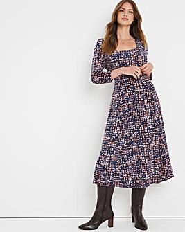 Julipa Square Neck Jersey Dress