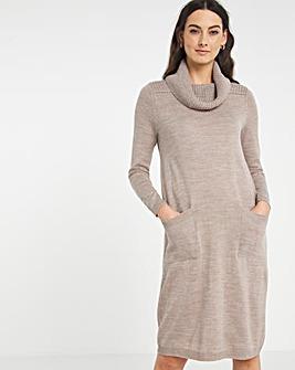 Julipa Supersoft Knitted Roll Neck Dress
