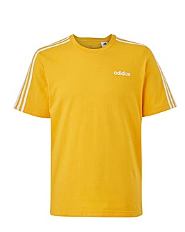 adidas Essential 3 Stripe T-Shirt