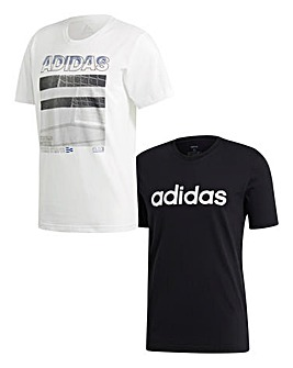 adidas Pack Of 2 Graphix T-Shirts