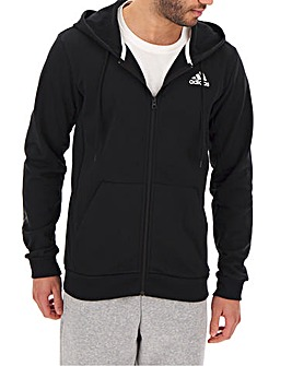 adidas Basketball Zip Hooded Sweat