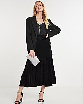 Julipa Tiered Velour Skirt