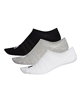 adidas 3 Pk No Show Socks