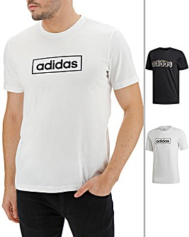 adidas Pack Of 2 GRFX T Shirts