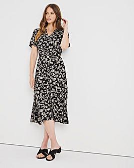 Paisley Crinkle Shirt Dress