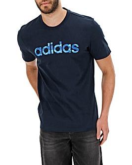 adidas Camo Linear T Shirt