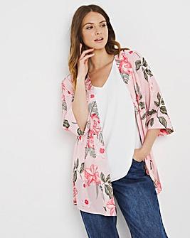 Julipa Kimono and Lined Vest 2 Piece Set