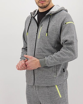 Jacamo Active Tech Zip Hoodie Regular
