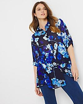 Julipa Sheer Printed Swing Shirt