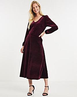 Julipa Velour Button Front Dress