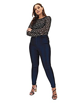 Chloe Glitter High Waist Skinny Jeans