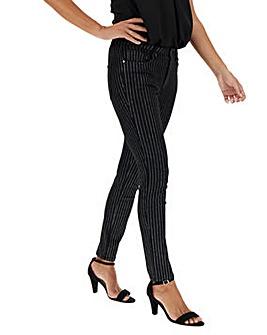 Sadie Glitter Pinstripe Slim Leg Jeans