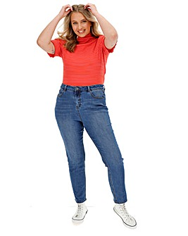 Blue Wash Demi High Waist Mom Jeans