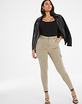 Chloe Sage Green Utility Skinny Jeans
