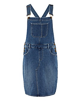 Vintage Blue Short Dungaree Dress