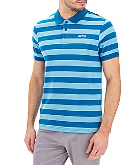 Mitre Block Stripe Polo Top Regular