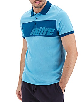 Mitre Camo Logo Polo Long