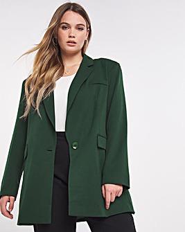 Simply Be Emerald Oversized Tailored Blazer