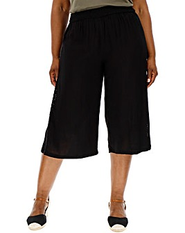 Black Broderie Insert Culottes