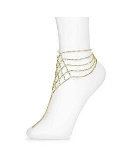 Mood Diamante Lattice Anklet