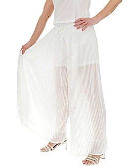 Pleat Side Split Wide Trousers