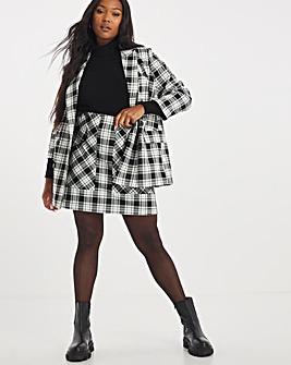 Black Check Aline Skirt