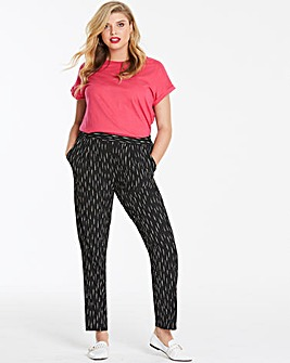 Stripe Crepe Tapered Leg Trousers