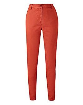 Cotton Rich Comfort Stretch Chino Trousers Regular