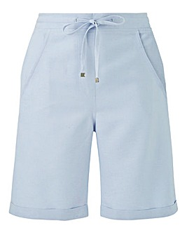 Petite Easy Care Linen Mix Shorts