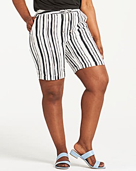 Stripe Easy Care Linen Mix Shorts