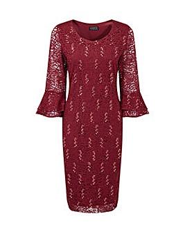 Grace sequin lace midi dress