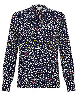 Monsoon Simone Heart Print Blouse