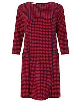 Monsoon Harriet Heart Jacquard Dress