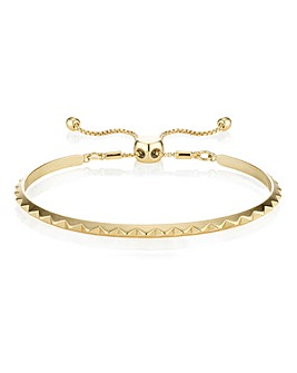 Buckley Pyramid Friendship Bangle Gold