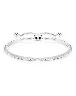 Buckley Pyramid Friendship Bangle Silver