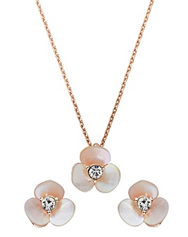 Buckley Flower Earring And Pendant Set