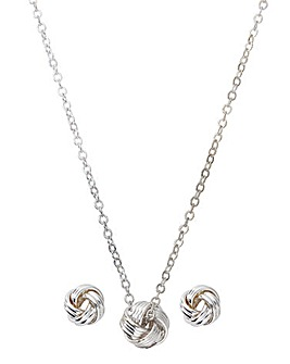 Buckley Knot Earring And Pendant Set
