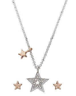 Buckley Star Earring and Pendant Set