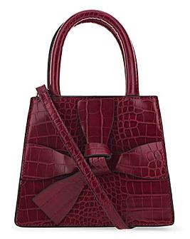 Glamorous Burgundy Mock Croc Bag