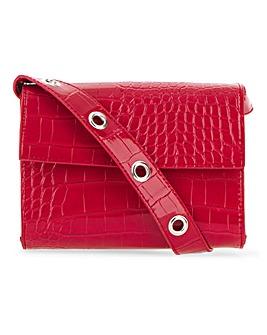 Glamorous Red Patent Snake Bag
