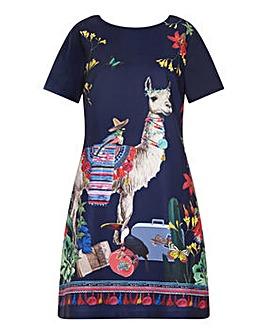 Yumi Curves Llama Tunic Dress