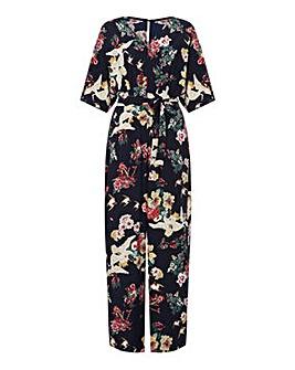 Yumi Curves Floral Wide Leg Jumpsuit