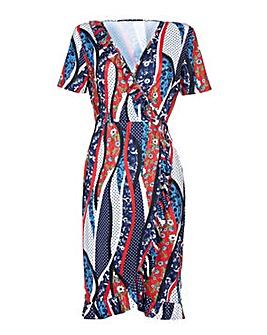 Yumi Curves Polka Dot Wrap Dress