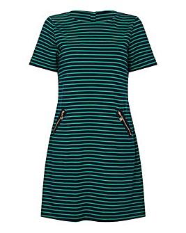 Yumi Curves Stripe Zip Detail Dress