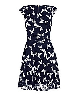 Yumi Curves Butterfly Skater Dress
