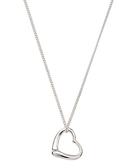 Slip on Heart With Chain Necklace
