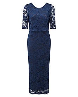 Grace lace overlay maxi dress