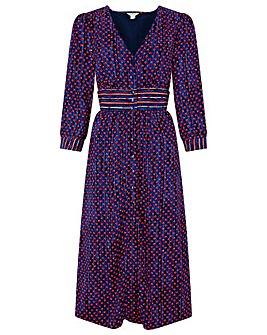 Monsoon Jamie Print Midi Dress