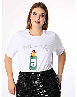 Koko Gin-gle Bells Slogan T-shirt