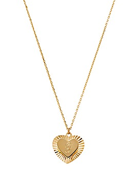 9CT Double Heart Sunray Chain
